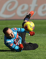 9th February 2020; Stadio San Paolo, Naples, Campania, Italy; Serie A Football, Napoli versus Lecce; David Ospina of Napoli during pre-game warm up