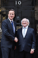 Michael D Higgins visits Downing Street