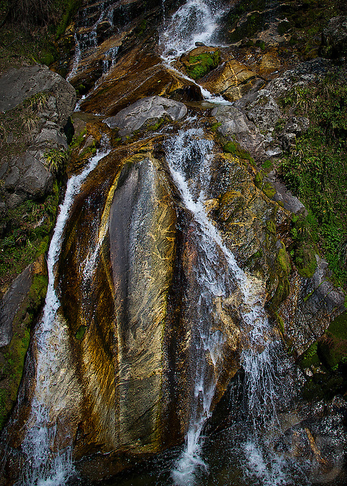 On the way to Trongsa, Bhutan's environment and nature, streams and waterfalls