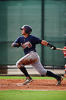 GCL Braves designated hitter Anthony Concepcion (38) at bat during a game against the GCL Phillies on August 3, 2016 at the Carpenter Complex in Clearwater, Florida.  GCL Phillies defeated GCL Braves 4-3 in a rain shortened six inning game.  (Mike Janes/Four Seam Images)