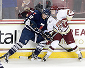 Byron Elliott (Toronto - 17), Patch Alber (BC - 27) - The Boston College Eagles defeated the visiting University of Toronto Varsity Blues 8-0 in an exhibition game on Sunday afternoon, October 3, 2010, at Conte Forum in Chestnut Hill, MA.