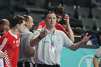 25.01.2013 Barcelona, Spain. IHF men's world championship, 3º/4º place. Picture show Slavko Goluza in action during game between Slovenia vs Croatia at Palau St. Jordi