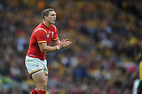 George North of Wales encourages his team mates during Match 35 of the Rugby World Cup 2015 between Australia and Wales - 10/10/2015 - Twickenham Stadium, London<br /> Mandatory Credit: Rob Munro/Stewart Communications