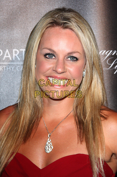 CHEMMY ALCOTT.The Global Party - Arrivals, Natural History Museum, London, England..September 8th, 2011.headshot portrait silver necklace red strapless .CAP/ROS.©Steve Ross/Capital Pictures