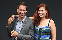 UNIVERSAL CITY, CA - AUGUST 2: Eric McCormack and Debra Messing at the Will & Grace Start Of Production Kick-Off Event at Universal City Plaza, California on August 2, 2017. Credit: Faye Sadou/MediaPunch