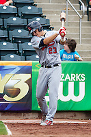 Mike Trout (23) of the Arkansas Travelers on deck during a game against the Springfield Cardinals on May 10, 2011 at Hammons Field in Springfield, Missouri.  Photo By David Welker/Four Seam Images.