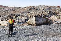 Photographing the remnants of the whaling era on Half Moon Island in the South Shetland Islands near the Antarctic Peninsula.