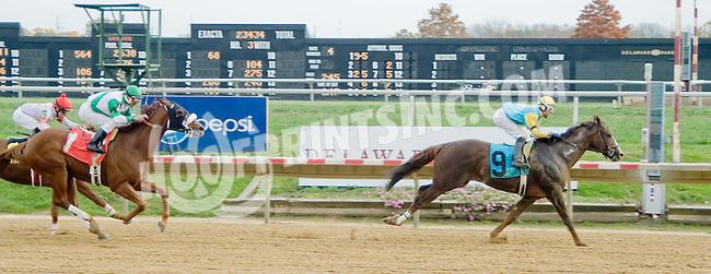 Magic Lion winning at Delaware Park on 10/27/12..