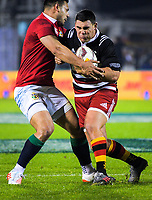 Ben Te'o tries to stop Dwayne Sweeney during the 2017 DHL Lions Series rugby union match between the NZ Provincial Barbarians and British & Irish Lions at Toll Stadium in Whangarei, New Zealand on Saturday, 3 June 2017. Photo: Dave Lintott / lintottphoto.co.nz