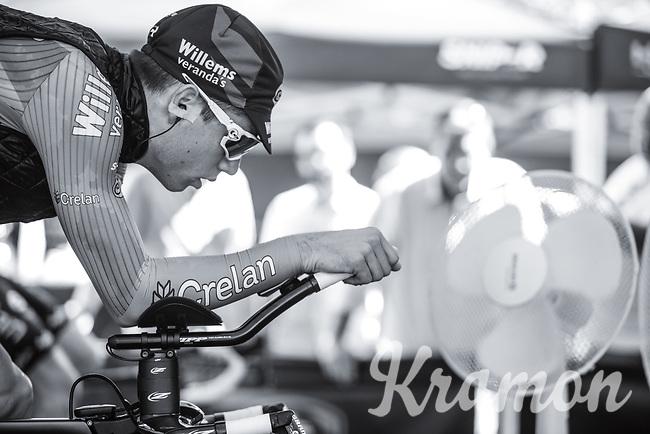 Wout van Aert (BEL/Willems Veranda's-Crelan) warming up<br /> <br /> Baloise Belgium Tour 2017<br /> Stage 3: ITT Beveren - Beveren (13.4km)