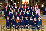 Gillian Bradley's Sixth class students from caherleaheen NS were confirmed by Bishop Ray Browne at St. John's Church Tralee on Friday with principal Mary Connolly, Fr. John O'Donoghue and fr. Fr Piotr Delimat