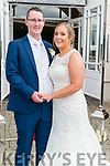 Sinead Ryan, daughter of Pat and Jackie Ryan from Tipperary and Michael O'Sullivan, son of late Michael Joe and Gobnait O'Sullivan from The Glenn, Balllinskelligs who got married on Friday, 26th of july in St Mary's Cathedral, Killarney. Fr Joe Walsh officiated the ceremony. Best man was Alan Smith and groomsmen were Vincent O'Sullivan and Brian Smith. Bridesmaids were Trisha Ryan, Emma Ryan and Aisling Byrne. Flowergirl was Shivaun O'Sullivan, pageboys were Killian O'Sullivan and Ollie Cahill. Reception was held at the Dromhall Hotel, Killarney and the couple with reside in Tipperary.