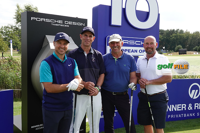 Trevor Immelman team photo during the ProAm ahead of the 2019 Porsche European Open , Green Eagle Golf Club, Hamburg, Germany. 04/09/2019<br /> Picture: Golffile | Phil Inglis<br /> <br /> <br /> All photo usage must carry mandatory copyright credit (© Golffile | Phil Inglis)