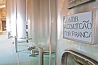 touriga franca sign on tank quinta do cotto douro portugal