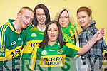 Looking forward to the game in Jades bar, Killarney, were Jamie Kissane, Sarah Reen, Tanya Moynihan, Michelle Stack and Eileen Leen, Killarney.
