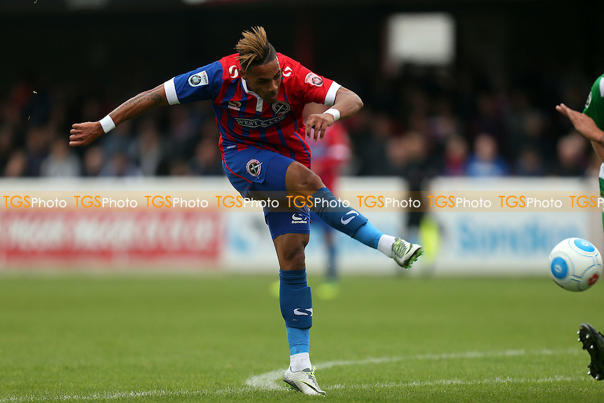 Corley Whitely of Dagenham during Dagenham and Redbridge vs North Ferriby United, Vanarama National League Football at the Chigwell Construction Stadium on 17th September 2016