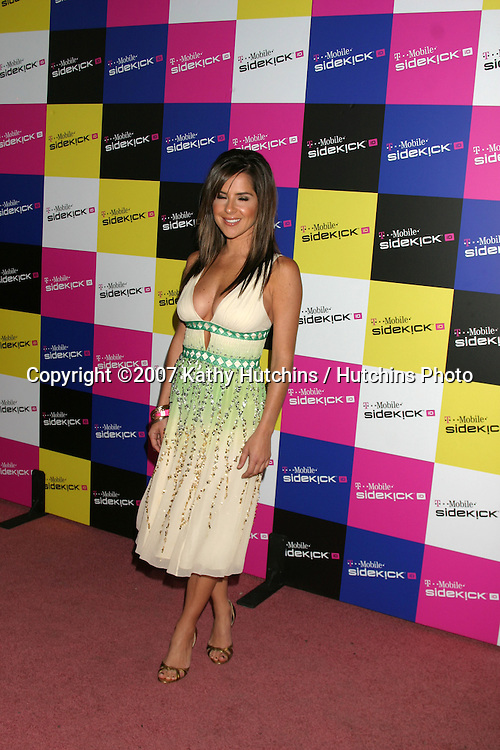 Kelly Monaco.T-Mobile Sidekick Party.T-Mobile Sidekick Lot.Los Angeles, CA.April 14, 2007.©2007 Kathy Hutchins / Hutchins Photo....