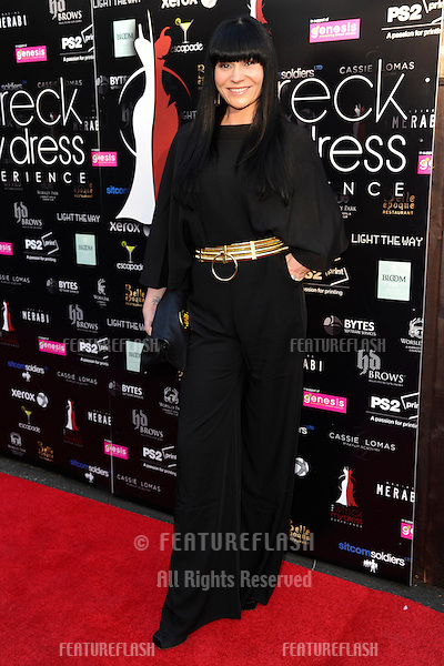 Lucy Pargeter arriving for the launch of The Wreck My Dress Experience, Worsley, Manchester. 02/05/2013 Picture by: Steve Vas / Featureflash