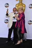 Colin Gibson & Lisa Thompson at the 88th Academy Awards at the Dolby Theatre, Hollywood.<br /> February 28, 2016  Los Angeles, CA<br /> Picture: Paul Smith / Featureflash