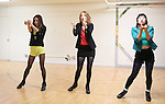Elle McLemore, Jessica Keenan Wynn and Alice Lee  performing at the Open Press Rehearsal for 'Heathers The Musical' on February 19, 2014 at The Snapple Theatre Center in New York City.