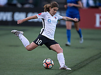 Seattle, WA - Saturday July 22, 2017: Daphne Corboz during a regular season National Women's Soccer League (NWSL) match between the Seattle Reign FC and Sky Blue FC at Memorial Stadium.