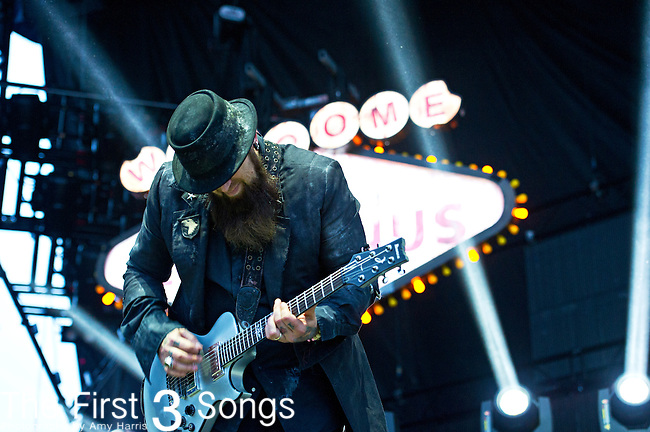Barry Stock of Three Days Grace performs during the The Beale Street Music Festival in Memphis, Tennessee.