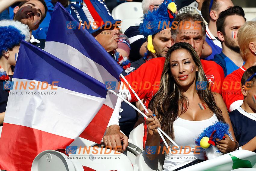 Tifosi Fance Fans France <br /> Lille 19-06-2016 Stade de Pierre Mauroy Footballl Euro2016 Switzerland - France / Svizzera - Francia Group Stage Group A. Foto Matteo Ciambelli / Insidefoto
