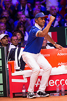 Le joueur de tennis Jérémy Chardy opposé au joueur Croate Borna Coric lors de la  Finale de la Coupe Davis France vs Croatie, au Stade Pierre Mauroy à Villeneuve d'Ascq . Match gagné par l'équipe de Croatie.<br /> France, Villeneuve d'Ascq , 23 novembre 2018.<br /> French tennis player Jérémy Chardy vs Croatian tennis player Borna Coric, during the final of the Davis Cup, at the Pierre Mauroy stadium in Villeneuve d'Ascq .<br /> Match won by Croatian team.<br /> France, Villeneuve d'Ascq , 23 November 2018<br /> Pic : Yannick Noah