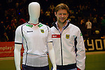Berlin, Germany, January 31: During the presentation of the new German international jerseys of Reece Australia during the Final Four tournament on January 31, 2015 at Max-Schmeling-Halle in Berlin, Germany. (Photo by Dirk Markgraf / www.265-images.com) *** Local caption ***