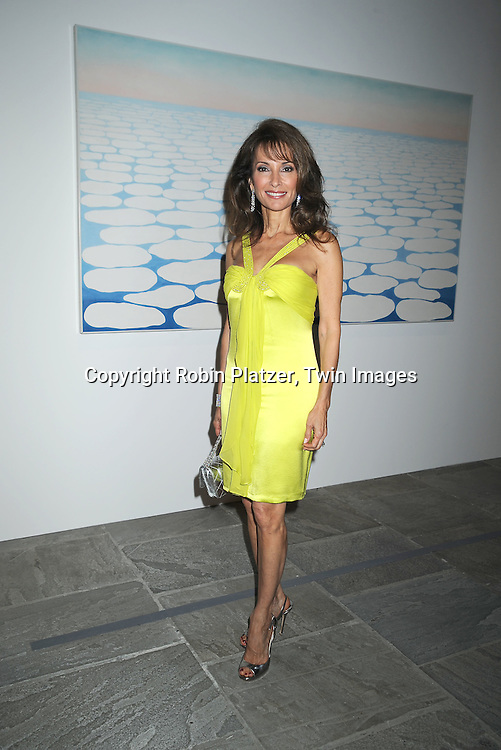 Susan Lucci in front of Georgia O'Keeffe painting