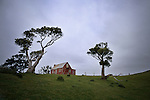 Abandoned farm house in Glory Bay. Pitt Island. Chatham Islands New Zealand.