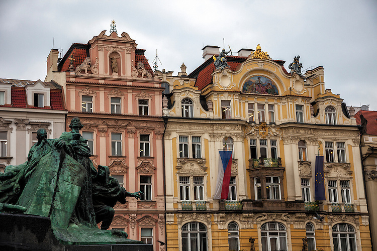 Prague's diverse architecture is evident around the main city square