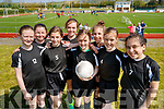 Students from Scoil Nuachabháil, Ballymacelligott, who took park in the Mounthawk Park, Tralee 5 aside County Finals soccer blitz on Wednesday, May 3rd were l-r: Abby Leahy, Alysha McQuinn, Roisin Rahilly, Shonagh Griffin, Ella Quirke, Charlotte Geary, Rachel Griffin and Nicole Walker.
