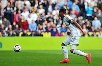 Swansea v Norwich, Liberty stadium Swansea, Saturday 29th March 2014<br /> <br /> Photographs by Amy Husband<br /> <br /> Swansea's Jonathan De Guzman on the ball.