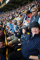Fans in the grandstand during the One Day International cricket match between the NZ Black Caps and Pakistan at Westpac Stadium, Wellington, New Zealand on Saturday, 6 February 2016. Photo: Dave Lintott / lintottphoto.co.nz