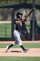 Chicago White Sox outfielder Tyler Frost (7) follows through on his swing during an Instructional League game against the Kansas City Royals at Camelback Ranch on September 25, 2018 in Glendale, Arizona. (Zachary Lucy/Four Seam Images)