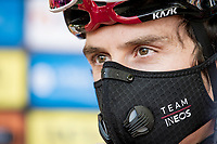 Geraint Thomas (GBR/Ineos) in the Darth Vader Ineos mask at the race start in Vienne<br /> <br /> Stage 2: Vienne to Col de Porte (135km)<br /> 72st Critérium du Dauphiné 2020 (2.UWT)<br /> <br /> ©kramon