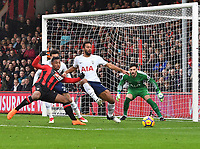 Bournemouth's Lys Mousset (left) battles with Tottenham Hotspur's Mousa Dembele (right)<br /> <br /> Bournemouth 1 - 4 Tottenham Hotspur<br /> <br /> Photographer David Horton/CameraSport<br /> <br /> The Premier League - Bournemouth v Tottenham Hotspur - Sunday 11th March 2018 - Vitality Stadium - Bournemouth<br /> <br /> World Copyright &copy; 2018 CameraSport. All rights reserved. 43 Linden Ave. Countesthorpe. Leicester. England. LE8 5PG - Tel: +44 (0) 116 277 4147 - admin@camerasport.com - www.camerasport.com