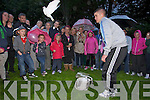 Tony O'Brien releasing doves at the remembrance ceremony organised for suicide awareness week in Pearse Park on Monday..