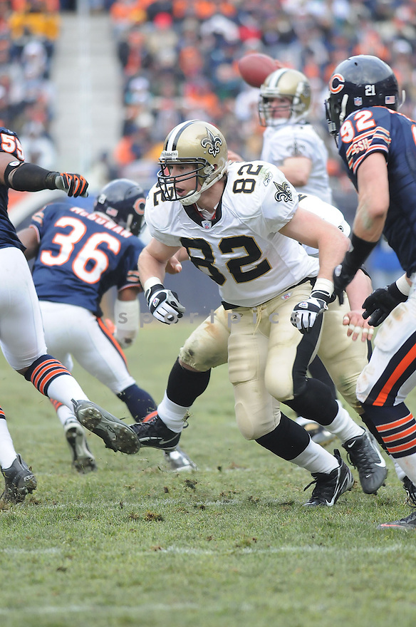 ERIC JOHNSON, of the New Orleans Saints  in action during the Saints game against the Chicago Bears on December 30, 2007 in Chicago, Illinois...BEARS win 33-25..SportPics