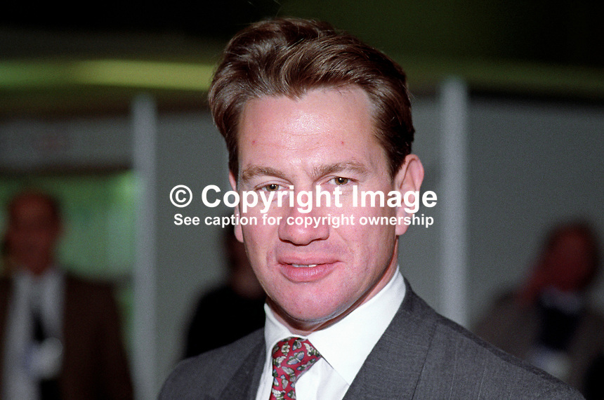 Michael Portillo, MP, Conservative Party, UK, politician, 19921067MP.<br /> <br /> Copyright Image from Victor Patterson, 54 Dorchester Park, Belfast, UK, BT9 6RJ<br /> <br /> t1: +44 28 9066 1296 (from Rep of Ireland 048 9066 1296)<br /> t2: +44 28 9002 2446 (from Rep of Ireland 048 9002 2446)<br /> m: +44 7802 353836<br /> <br /> e1: victorpatterson@me.com<br /> e2: victorpatterson@gmail.com<br /> <br /> The use of any of my copyright images is subject to my Terms &amp; Conditions. It is IMPORTANT that you familiarise yourself with them. They are available at my website, victorpatterson.com.<br /> <br /> None of my copyright images may be used on the Internet unless they are visibly watermarked, i.e. &copy; Victor Patterson within the body of the image. My metadata, denoting my copyright must NOT be deleted. <br /> <br /> Web use is extra at currently recommended NUJ rates. Maximum permitted web size is<br />  400kb. <br /> <br /> Images must not be passed on to a third party - they are for the use of the authorised recipient only.