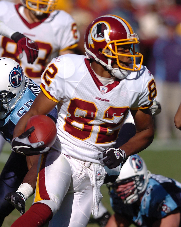 ANTWAAN RANDLE EL of the Washington Redskins in action against the Tennessee Titans on October 15, 2006 at FedEx Field...Titans win 25-22..Tomasso DeRosa / SportPics