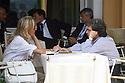 Renato Brunetta, Minister for Public Administration and Innovation, with his wife Titti holding hands during a break of Ambrosetti Workshop in Cernobbio, September 3, 2011. © Carlo Cerchioli..Renato Brunetta, Ministro della pubblica amministrazione e dell'innovazione, con la moglie Titti, mano nella mano, durante una pausa dei lavori del Workshop Ambrosetti a Cernobbio, 3 settembre 2011.