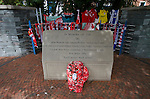 The Hillsborough memorial to the 96 Liverpool fans who died in the disaster of 1989.Sheffield Wednesday 2 Notts County 1, 20/08/2011. Hillsborough, League One. Photo by Paul Thompson.