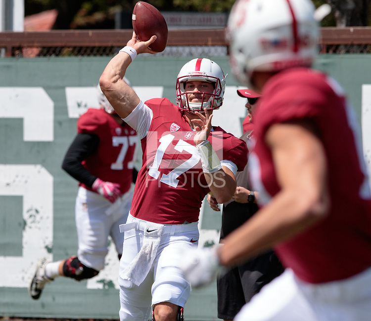 Stanford, CA - April15, 2017:  Ryan Burns at Cagan Stadium.