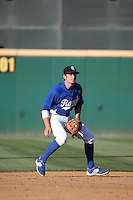 Tim Locastro (25) of the Rancho Cucamonga Quakes in the field at shortstop during a game against the Inland Empire 66ers at LoanMart Field on September 6, 2015 in Rancho Cucamonga, California. Rancho Cucamonga defeated Inland Empire, 10-6. (Larry Goren/Four Seam Images)