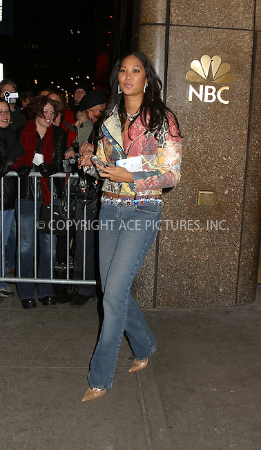 """Kimora Lee-Simmons arrives at NBC Studios for the premiere afterparty for """"Maid in Manhattan."""" New York, December 8, 2002. Please byline: Alecsey Boldeskul/NY Photo Press.   ..*PAY-PER-USE*      ....NY Photo Press:  ..phone (646) 267-6913;   ..e-mail: info@nyphotopress.com"""