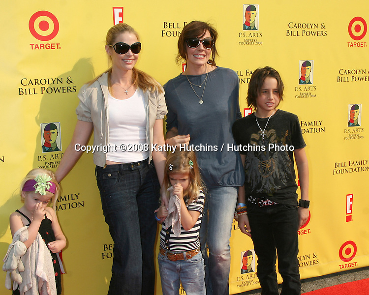 Denise Richards & daughters Lola & Sam Sheen , with Krista Allen & her son arriving  at the P.S. ARTS 11th Annual ?Express Yourself? Event at Barker Hanger in Santa Monica, CA on .November 15, 2008.©2008 Kathy Hutchins / Hutchins Photo...                . .