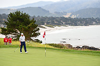 Ernie Els (RSA) looks over his putt on 8 during round 1 of the 2019 US Open, Pebble Beach Golf Links, Monterrey, California, USA. 6/13/2019.<br /> Picture: Golffile | Ken Murray<br /> <br /> All photo usage must carry mandatory copyright credit (© Golffile | Ken Murray)