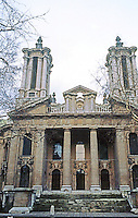 London: St. John, Smith Square, 1714-28. Thomas Archer, after Sant' Agnese, Rome, 1653-66.